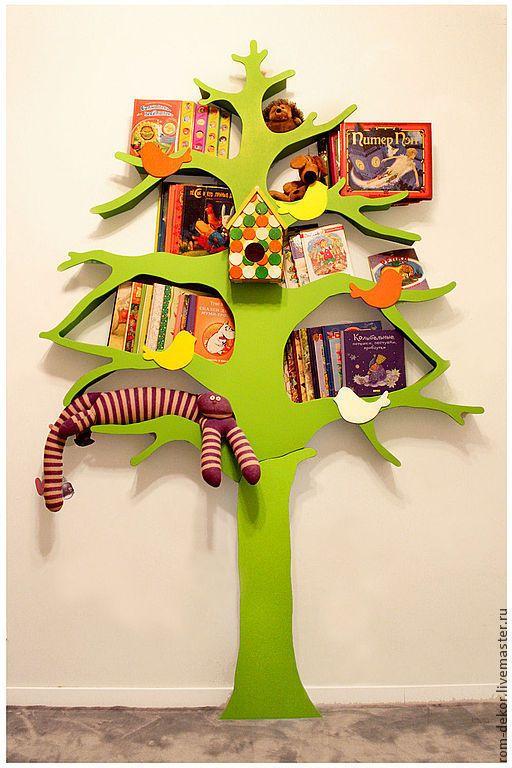 Купить Дерево-стеллаж для детской комнаты - декоративное дерево, для детской комнаты, дерево для детской, для детей