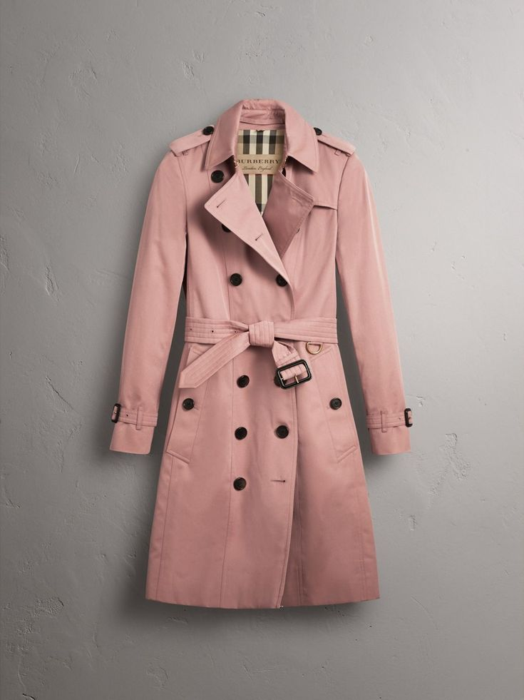 A classic trench coat cut to our slim Sandringham fit. Cotton Gabardine Long Trench Coat - $1895