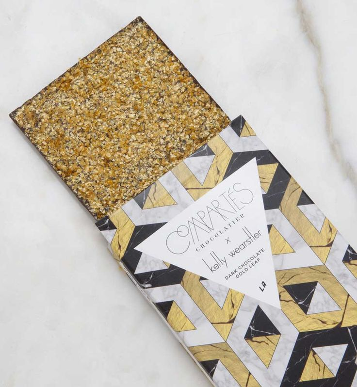 KELLY WEARSTLER X COMPARTES | MARBLEIZED. Dark Chocolate with Gold Leaf