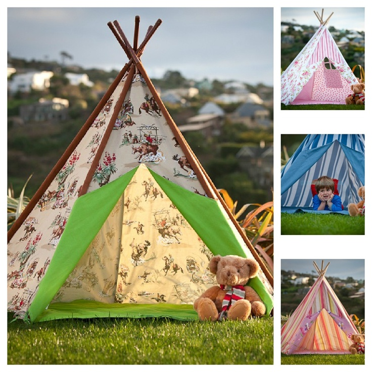 Gorgeous Teepees! I can see Lucy having tea parties in one of these!