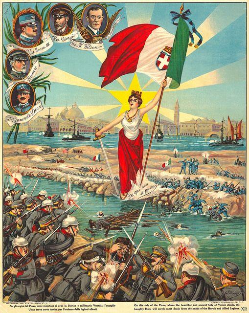 "Italian WW1 ""Haughty Huns meet death!"""