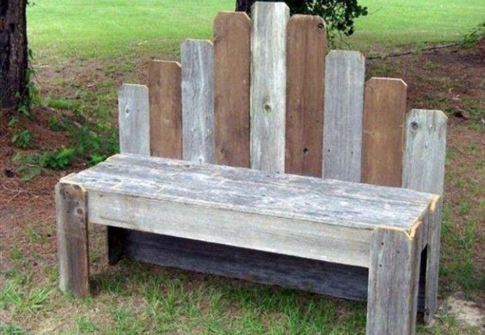 idée comment fabriquer un banc à partir d une palette démontée, canapé en palette façon rustique
