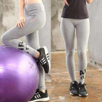 อย่าช้า  Woman Long Yoga Trousers Outdoor Running Fitness Pants (Grey) -intl  ราคาเพียง  363 บาท  เท่านั้น คุณสมบัติ มีดังนี้ brand new and high quality Quick dry, breathable, comfortable to wear.& Suitable for sport,gym,yoga, workout,fitness.&