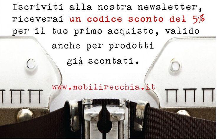 Iscriviti alla nostra newsletter!!!  http://mobilirecchia.it/shop/autenticazione?back=my-account