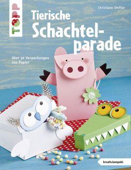 Tierische Schachtelparade von Christiane Steffan https://www.topp-kreativ.de/tierische-schachtelparade-4209.html #frechverlag #topp #diy #basteln #papier