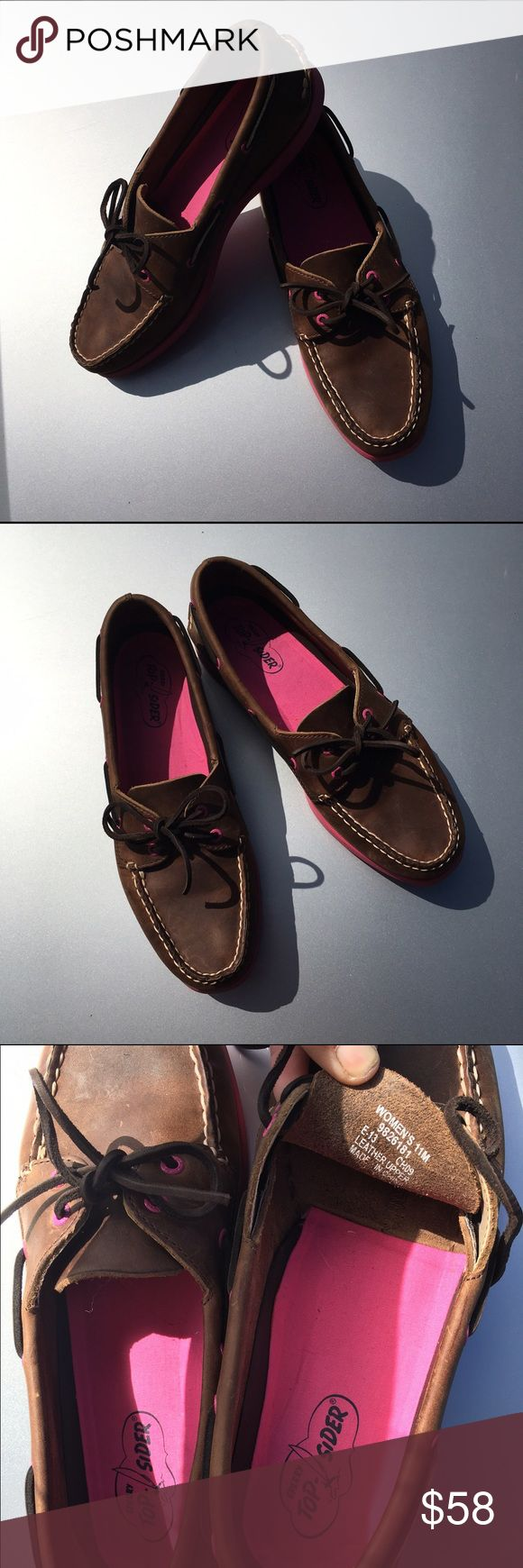 Sperry TopSiders tagged size 11! IMO run smaller! Cute brown Sperry TopSiders size 11  Minimal wear!! Good gently used condition! Love these shoes! Worn 3-4 times. Show light wear, but imo no major flaws!! IMO they run smaller/narrower! I'm usually a 9.5 in Sperry and the width is good for me! Just a bit too big! Kinda fit me like a 10-10.5 would? I do not recommend for a true size 11, but I cannot guarantee size/fit! I will list according to size tag! I cannot be responsible if these don't…