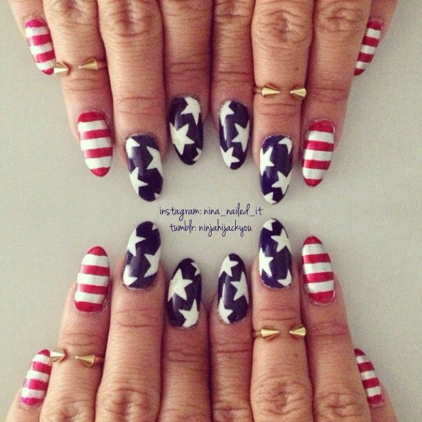171 best Nail Art - 4th of July and USA Patriotic images on ...