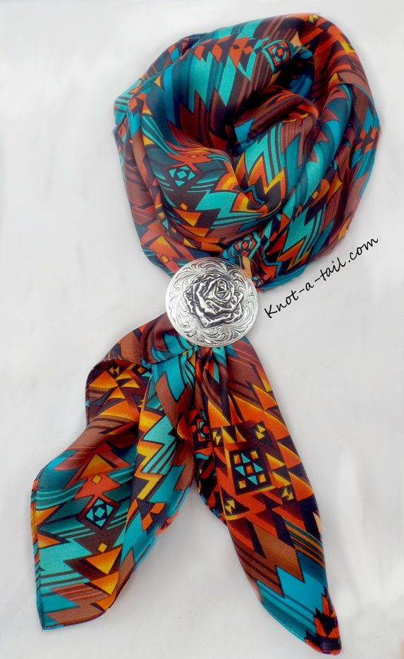 Cowboy Scarf Wild Rag Scarf Bandana Larger size SILK  by Knotatail