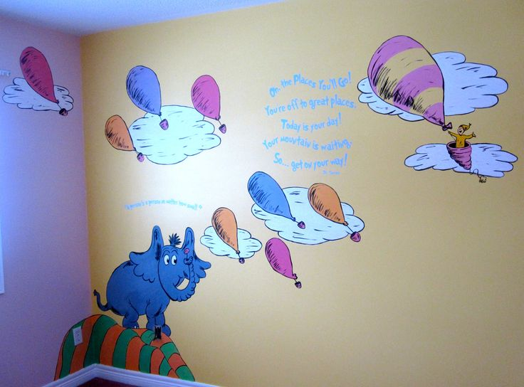 Dr. Seuss Mural Horton Hears A Who, Oh The Places Youu0027ll Go