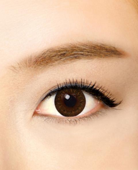 ●ハッシュサークル ブラウン●  太めのフチと、リングサークルの模様が可愛い デカ目効果があり、くりくりっとした深い瞳が印象的です♪ ☆カラコンランド☆