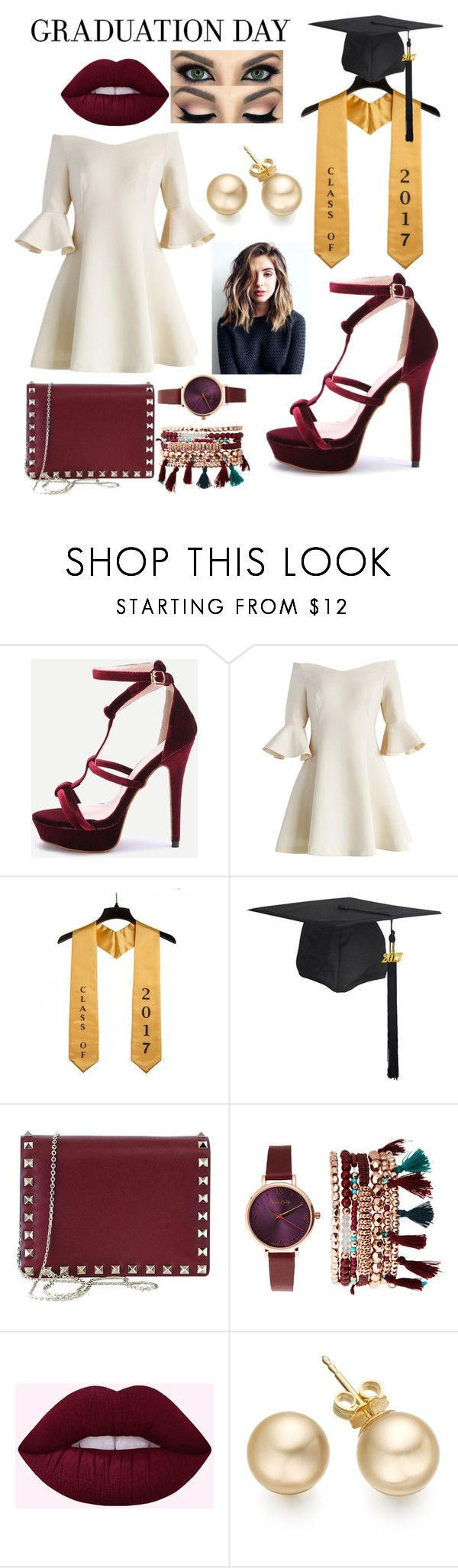 """2017 Valedictorian"" by shanneilfashionart ❤ liked on Polyvore featuring Chicwish, Valentino and Jessica Carlyle"