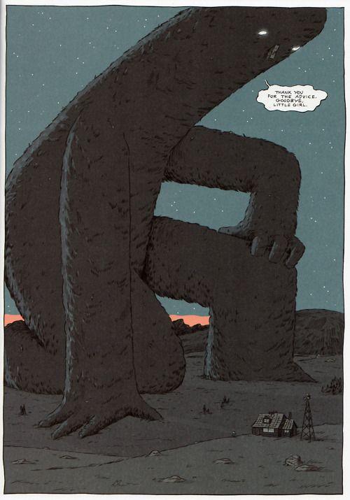 nidoog: Hilda and the Midnight Giant by Luke Pearson; 2011.: Giant Luke, Luke Pearson, Adorable Monstruo, Illustrations, Posts, 2011, Hilda, Illustration Inspirations