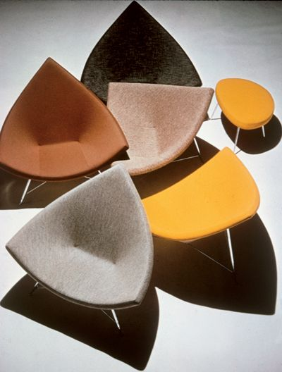 Coconut Chairs and Ottoman, 1956, by Charles Nelson for Herman Miller