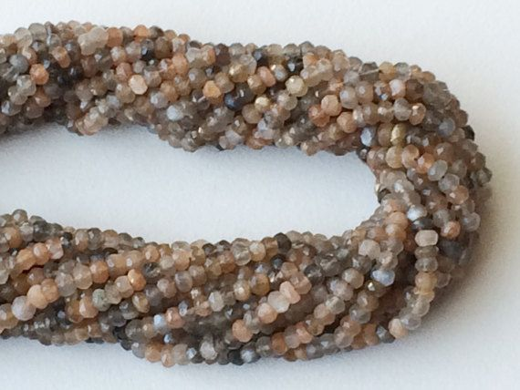 WHOLESALE 5 Strands Multi Moonstone Beads Natural by gemsforjewels