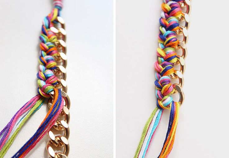 How to make a chain bracelet. Braided Chain Bracelet - Step 7