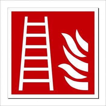 Feuerleiter Beschilderung - Brandschutzzeichen Feuerleiter
