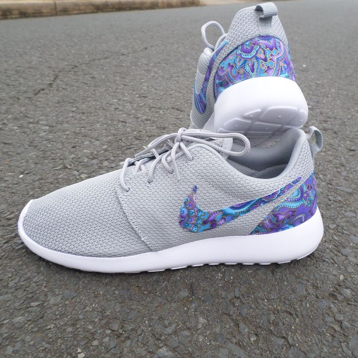 Custom Nike Roshe One Teal  Purple Paisley