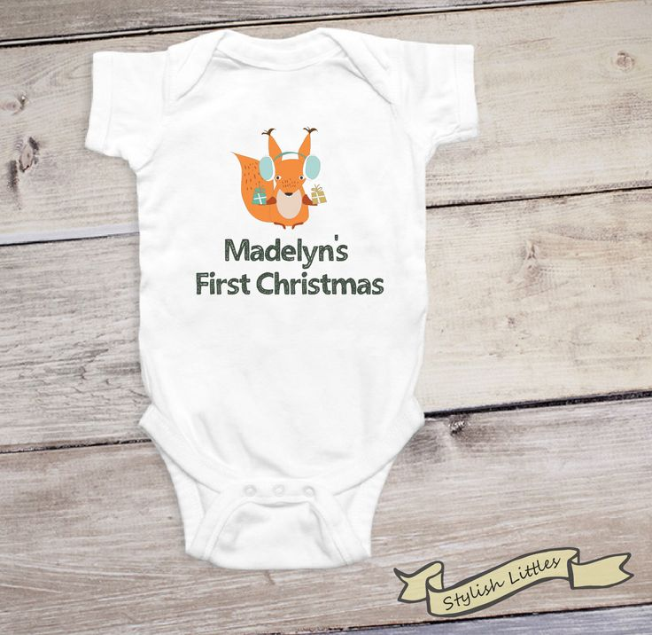 First Christmas Onesie®, Personalized Christmas Shirt, Holiday Onesie®, 1st Christmas Outfit, Custom Christmas, Baby Christmas Gift by StylishLittles on Etsy https://www.etsy.com/listing/491861753/first-christmas-onesie-personalized