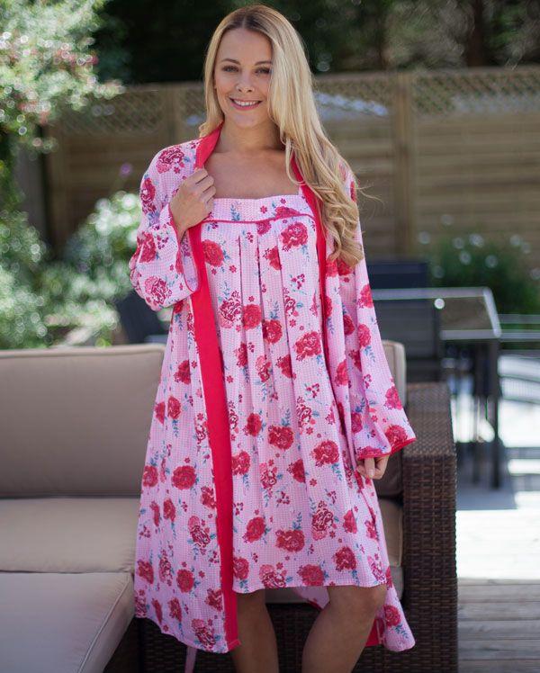 Suki Long Sleeve Floral Printed Robe