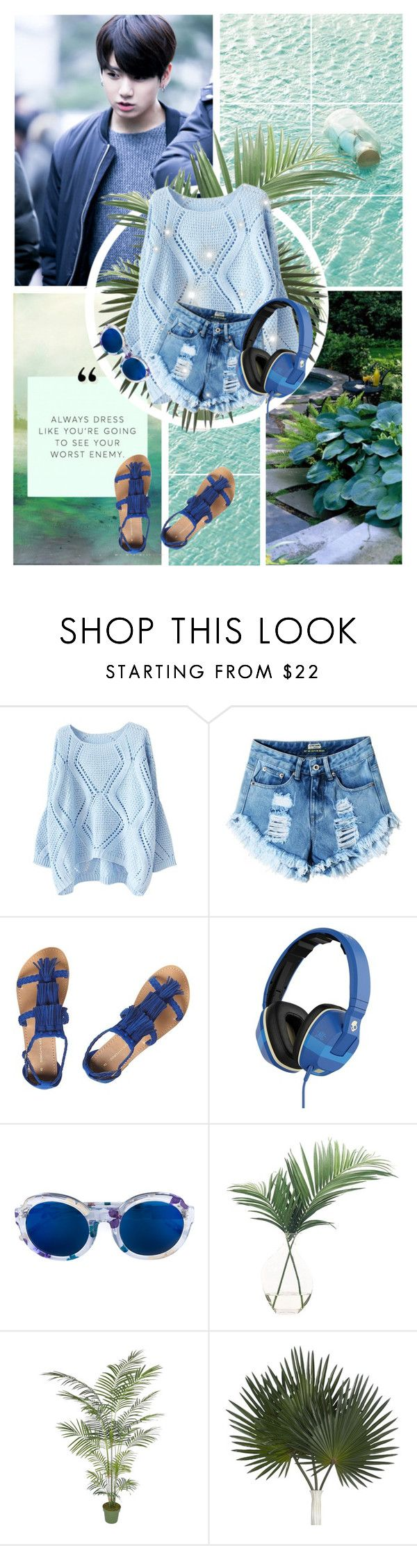 """Wherever I Go"" by janiaame ❤ liked on Polyvore featuring Dorothy Perkins, Skullcandy, Linda Farrow, NDI, kpop, denimshorts, summerdate, summer2016 and janiamania"