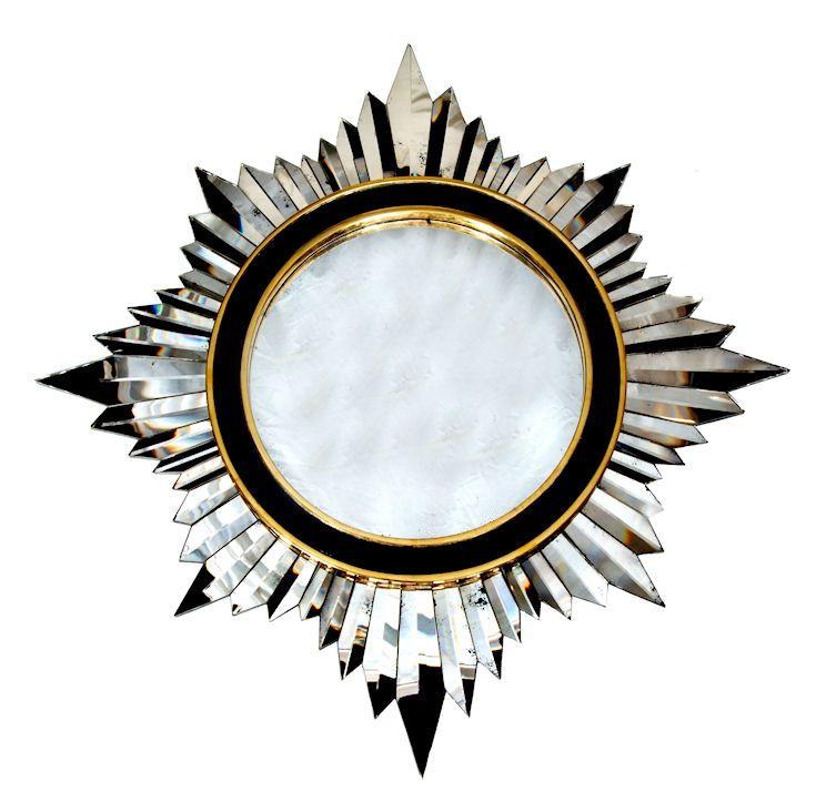 Hand Cut Brilliant Crystal Glass Starburst Mirror