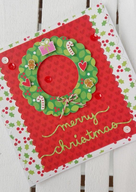 MERRY+CHRISTMAS+CARD - Scrapbook.com #christmascard #doodlebugdesign #lawnfawn #lawncuts #christmas