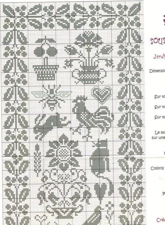 Gallery.ru / Фото #4 - Sampler 3 - Labadee Good outer border for doll house rug! love the inner designs too, perhaps for other things ?