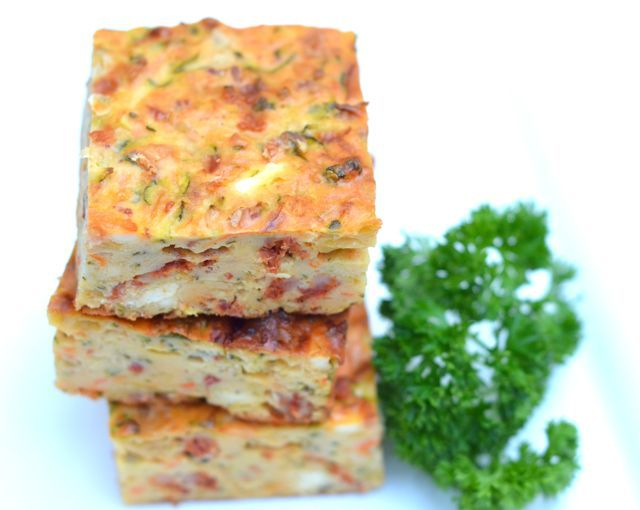 Zucchini chorizo feta slice