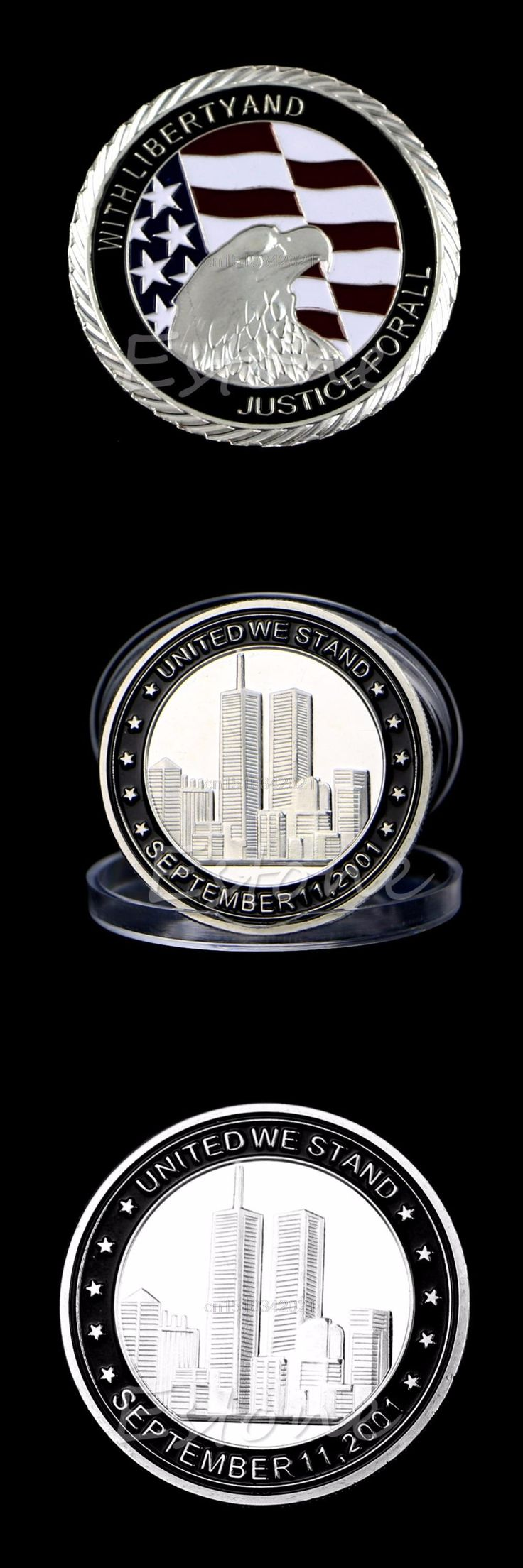 Collectible Coin 9/11 Silver Plated Tribute Coin United We Stand Commemorative Coin Collection
