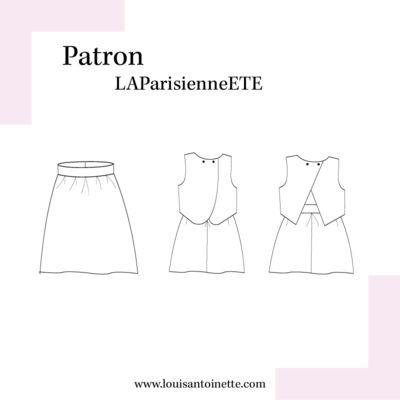 Louis Antoinette - robe La Parisienne Eté- patron pochette : 15,90€
