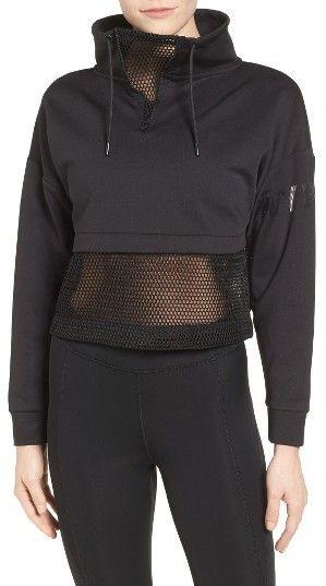 Women's Ivy Park Mesh Panel Funnel Sweatshirt