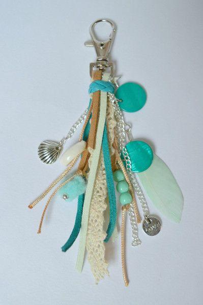 Sleutelhangers - Ibiza style sleutelhanger groen - Een uniek product van MiekStudio op DaWanda