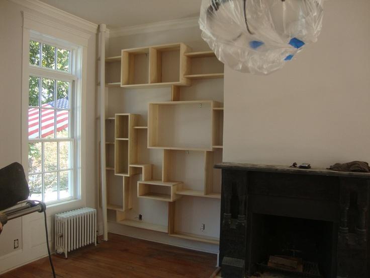 Custom Made Wall Bookcase by STORnewyork on Etsy. $1,000.00, via Etsy.