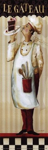 Chef's Masterpiece IV, Art Print by Lisa Audit