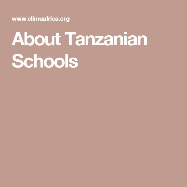 About Tanzanian Schools