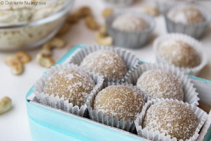 Bomboane cu Vanilie si Caju (fara zahar, 100% sanatoase)