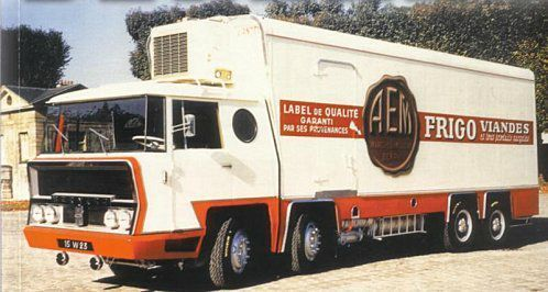 Bernard; Prototype Fourgon 8 roues réalisé spécialement pour AEM la Soutérraine