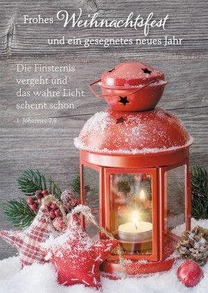 Postkarte Frohes Weihnachtsfest und ein gesegnetes neues Jahr ...
