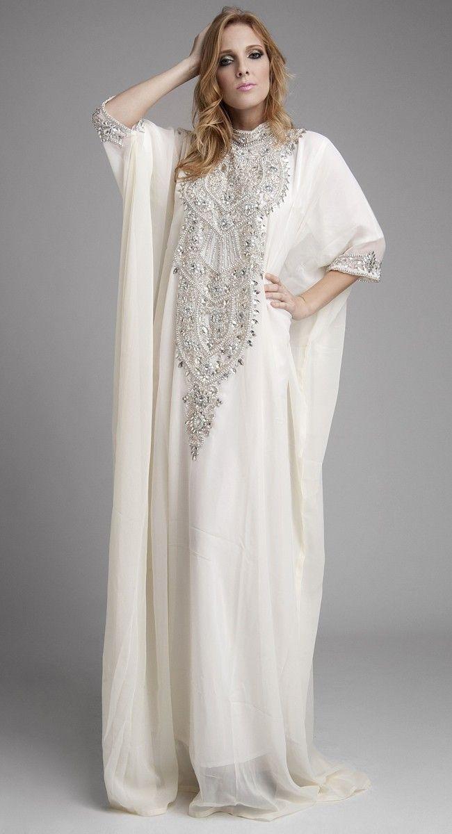 Fashionable Off White Color Long Sleeve #Kaftan  $ 125.00