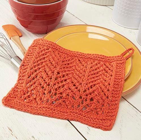 Classic Chevron Knit Dishcloth