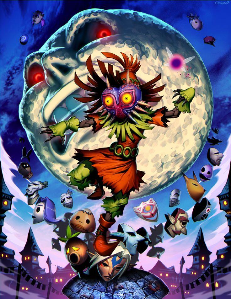 The Legend of Zelda: Majora's Mask / Skull Kid, Tael, and The Moon / 「ゼルダの伝説 ムジュラの仮面」/「Genzoman」のイラスト [pixiv]