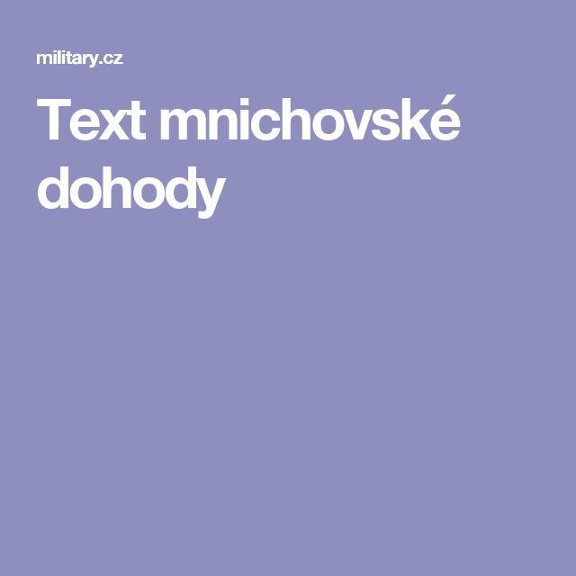 Text mnichovské dohody