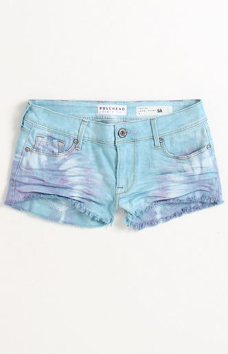 Ice Cream Tie Dye Fray Shorts