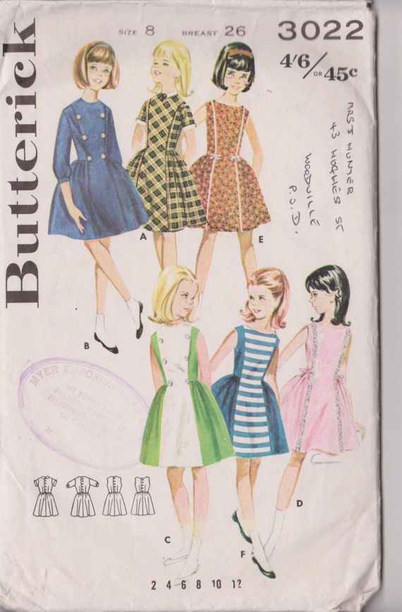 Girls Easter Dress Vintage Sewing Patterns for by PatternsFromOz
