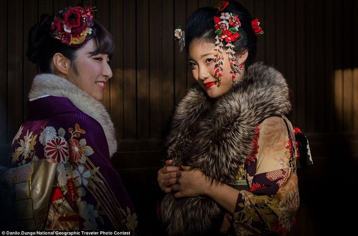 Coming of Age: Seijin no Hi or Coming of Age Day is a traditional Japanese holiday which is organized on the second Monday in January. In Japan the age of majority is 20 wearing kimono