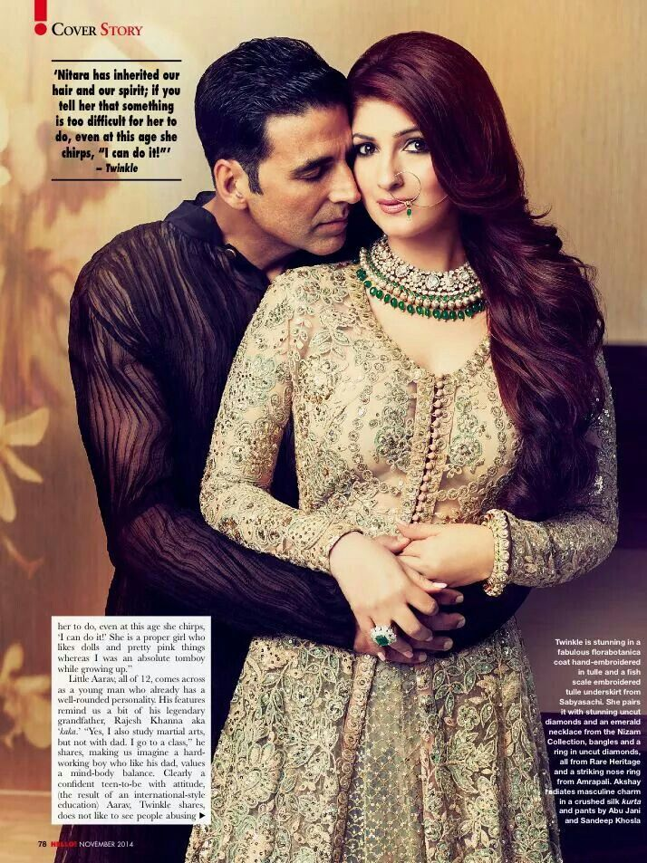 Twinkle Khanna in Sabyasachi. One of my favourite photo of theirs.