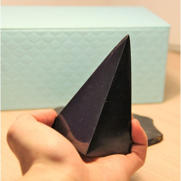 Buy from Russia 60 mm Polished shungite high pyramid Price: $30.49