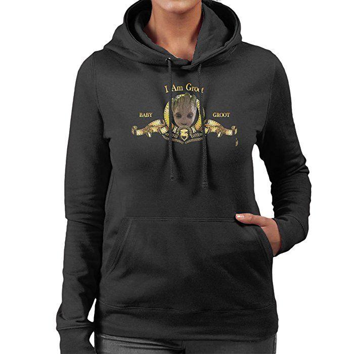 Guardians Of The Galaxy Baby Groot MGM Women's Hooded Sweatshirt: Amazon.co.uk: Clothing