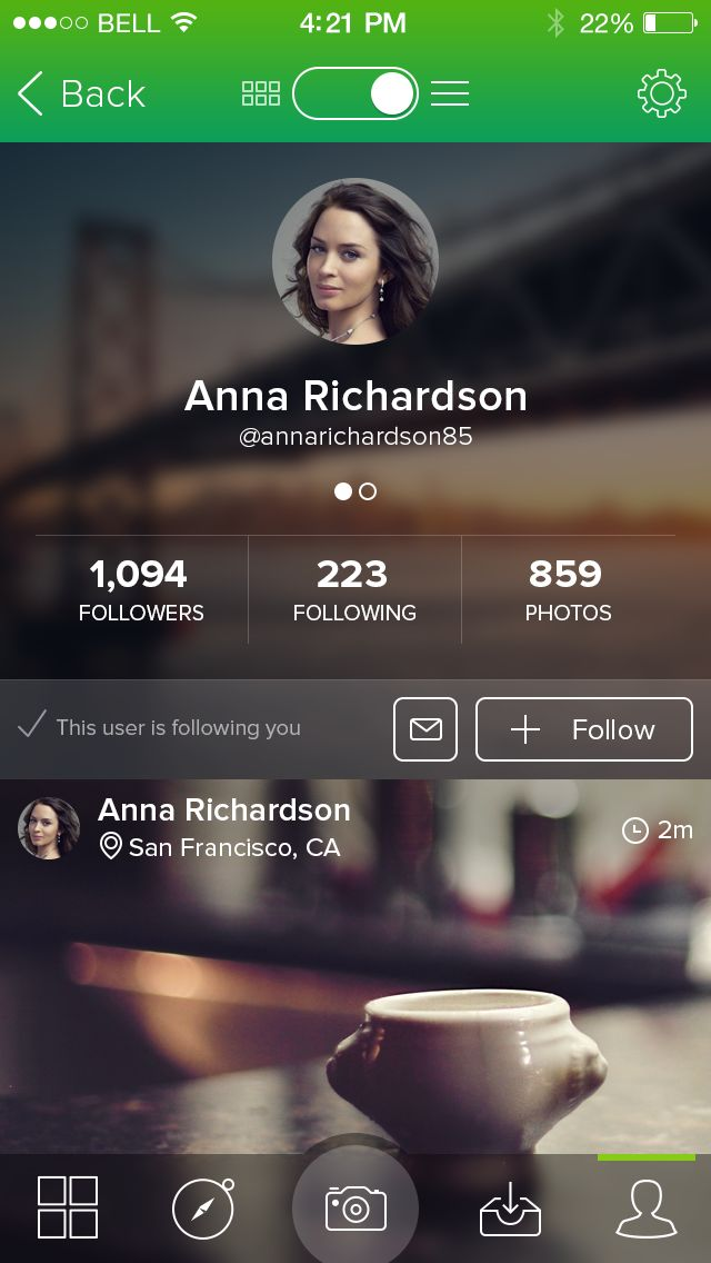 Profile screen #mobile #app #ui