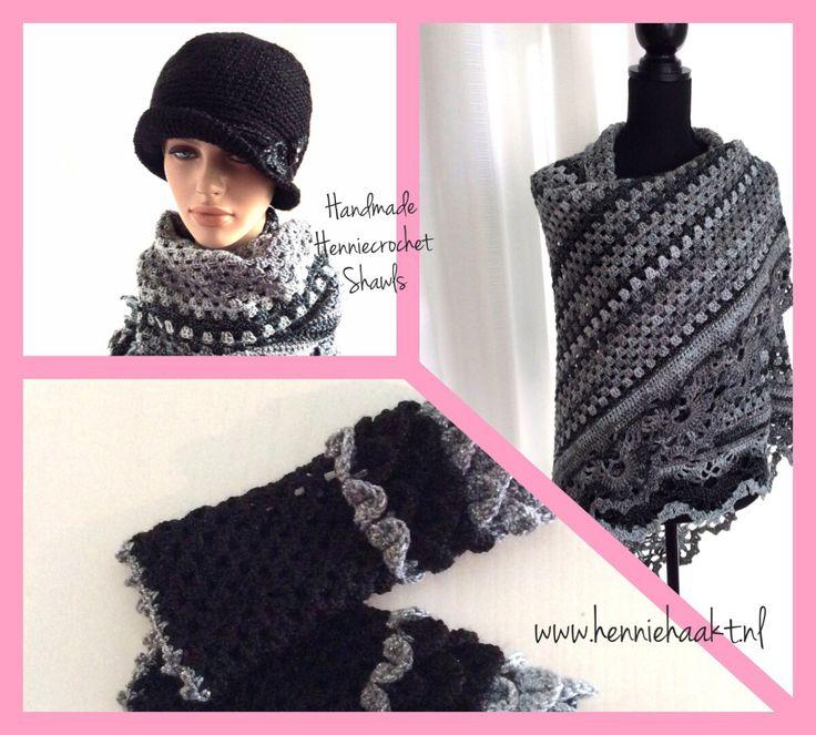 Blij om mijn nieuwste toevoeging aan mijn #etsy shop te kunnen delen: Kleding cadeau,Granny sjaal,oma omslagdoek, feestdagen, damessjaal cadeau voor haar, vintage  kerst cadeau, glossy sjaal, wintersjaal, #accessoires #sjaal #grijs #kerstmis #zwart #grannyomslagdoek #grannysjaal #verjaardag